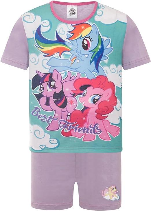 Girls My Little Pony Shorts Pyjamas Kids PJs Short Sleeve 4 to 10 Years Rainbow