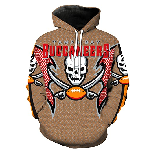 a8d27f87 Men's Hooded Long Sleeve 3D Digital Print Tampa Bay Buccaneers ...