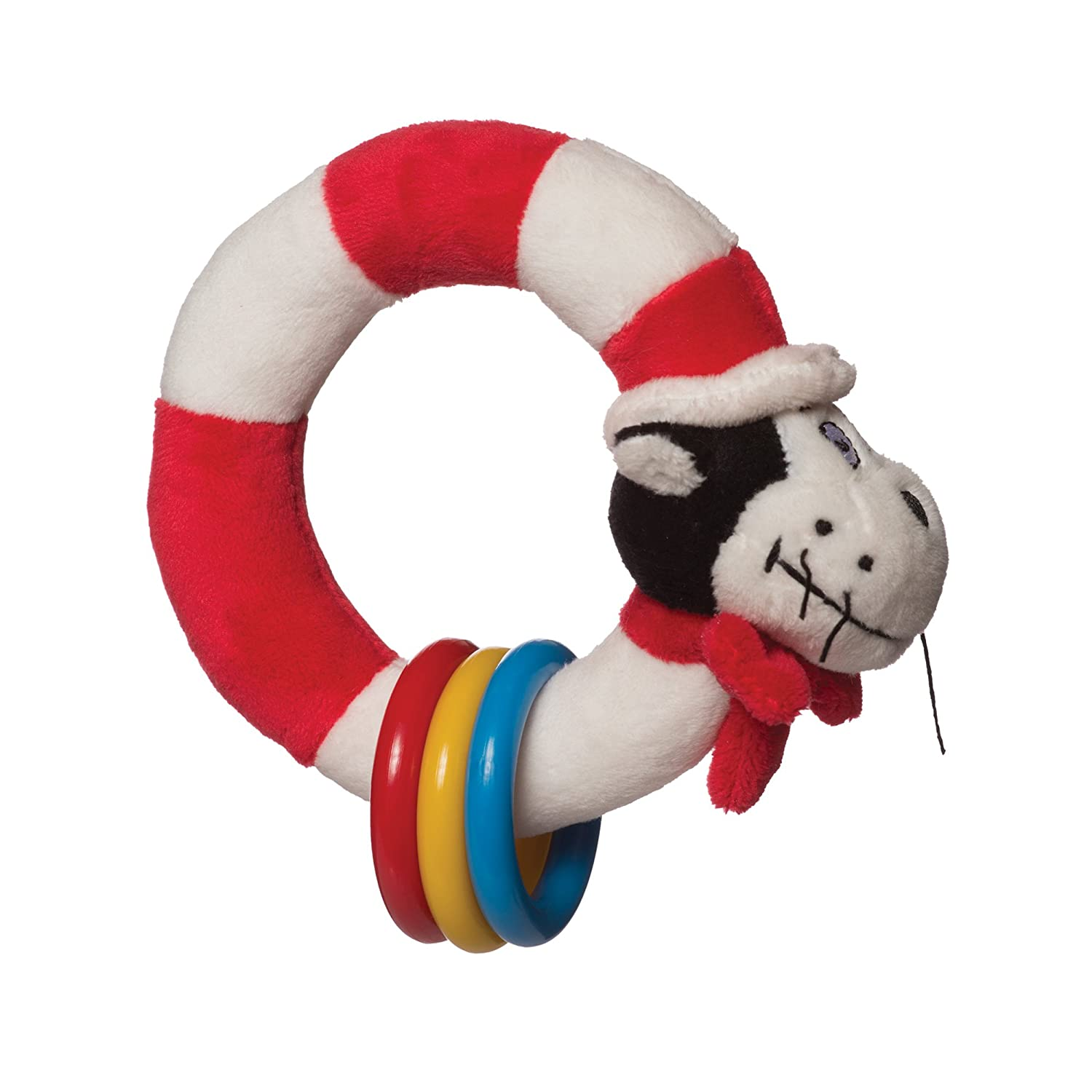Seuss Cat in The Hat Take and Shake Ring Rattle and Teether... Manhattan Toy Dr