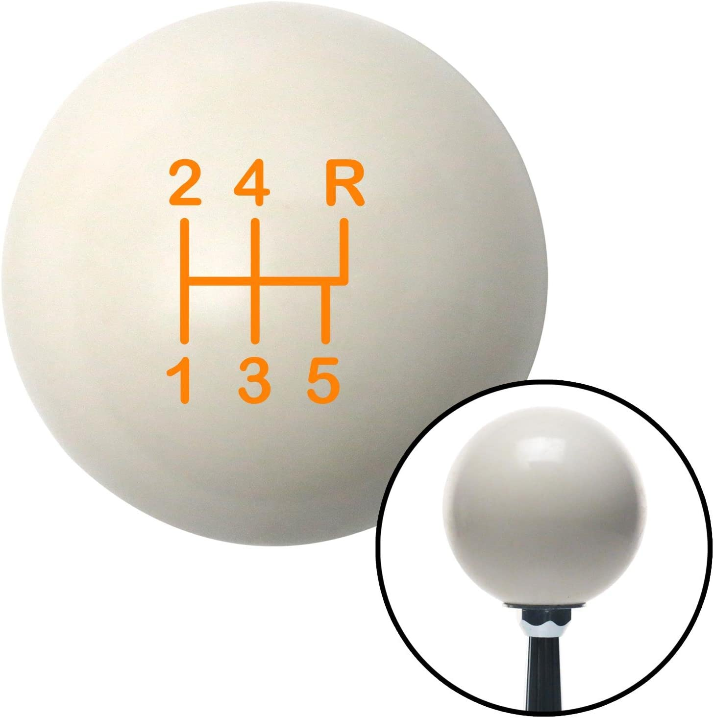 American Shifter 76297 Ivory Shift Knob with M16 x 1.5 Insert Orange Shift Pattern 13n