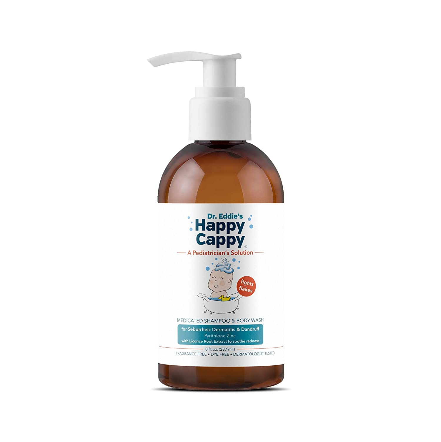 Dr. Eddie's Happy Cappy Medicated Shampoo for Children, Treats Dandruff and Seborrheic Dermatitis