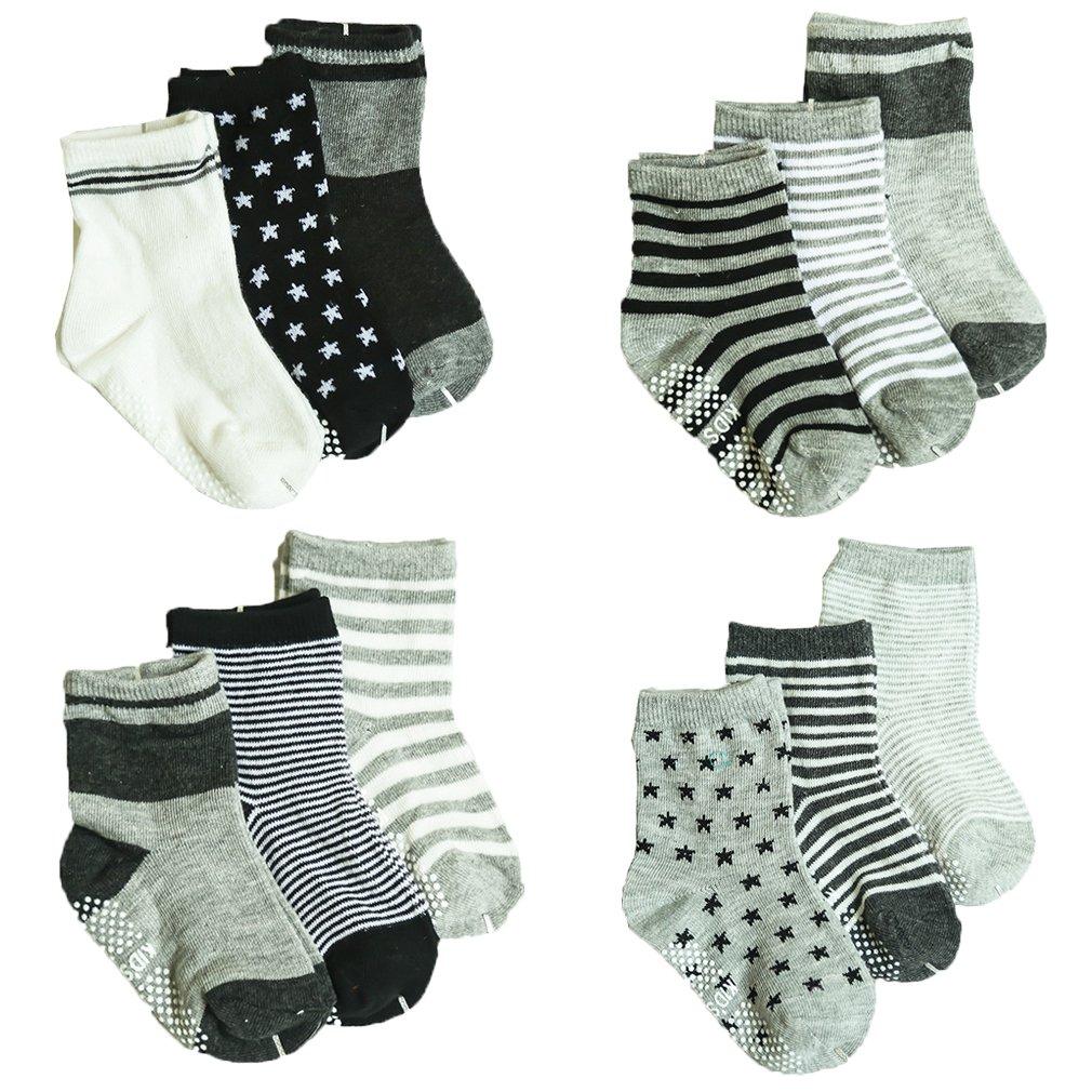 JT-Amigo - Calzini Antiscivolo - Bambini e Neonati - Confezione da 12 Paia Baby-Sock-12Pairs-Set8