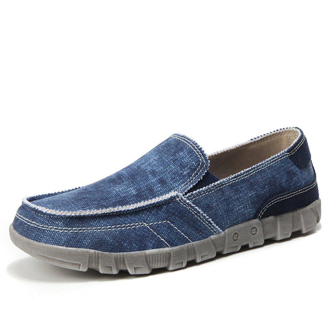 SKY-Maria Herren Sommer Mode Segeltuchschuhe Licht Atmungsaktiv Flache Schuhe Rutschfest Lässige Schuhe Große Größe 39-48