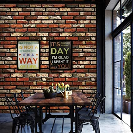 Brick Wallpaper Textured Chanmol Peel And Stick 3d Brick Self Adhesive Removeable Wallpaper Contact Paper For Bedroom Living Room Tv Background Home