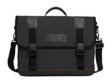 Amazon.com: ECOSUSI Vintage 14.7-inch Canvas Messenger Bag ...