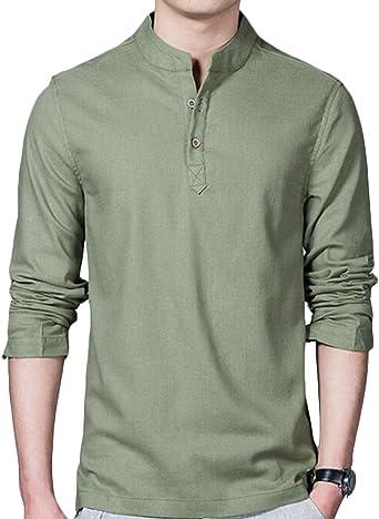 cxx – Camiseta Jersey, ligero lino camisa casual de hombres: Amazon.es: Ropa y accesorios