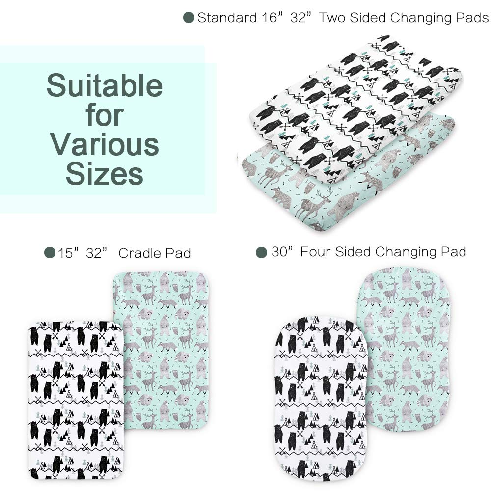 Changing Pad Cover Girl or Boy Baby Changing Table Cover Baby Gift Changing Mat Baby Nursery 2 Pack by Tanofar