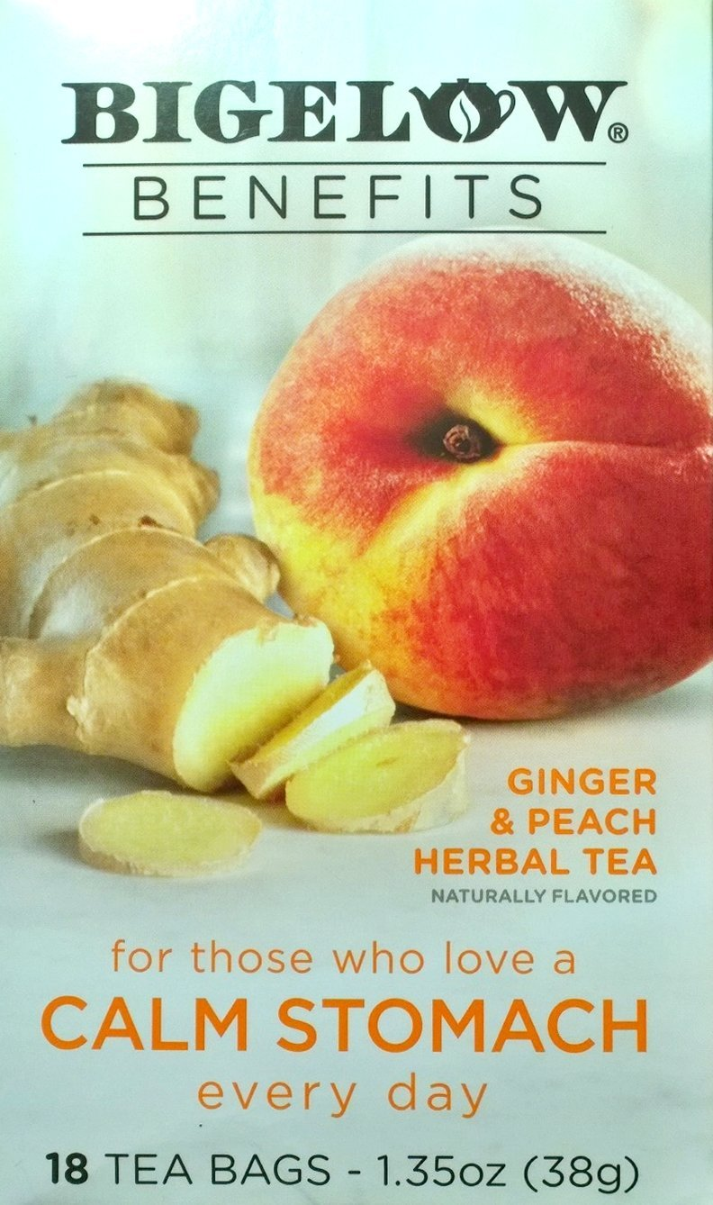 Benefits of herbal peach tea - Bigelow Benefits Herbal Tea Pack Of 2 Ginger Peach 18 Count Boxes