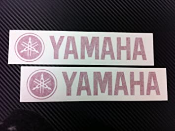 Aufkleber 2 X Yamaha Racing Decal Sticker New Red Size 203mmx44mm