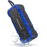 Poweradd MusicFly Indoor/Outdoor Portable Bluetooth/Wireless Speakers, 36W Loud Volume, Dynamic Stereo, IPX7 Waterproof, Sandproof, Shockproof, Built in Mic, 24 Hours Playtime, Blue