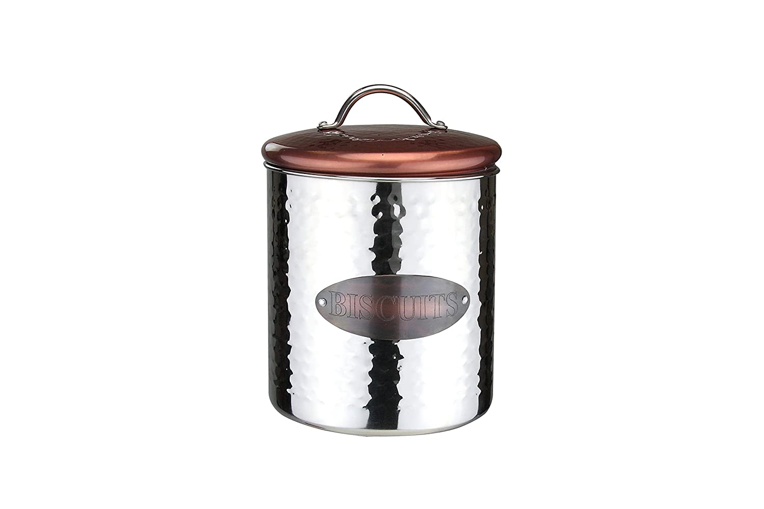Apollo Biscuits Canister, Stainless Steel, Copper/Silver 4070