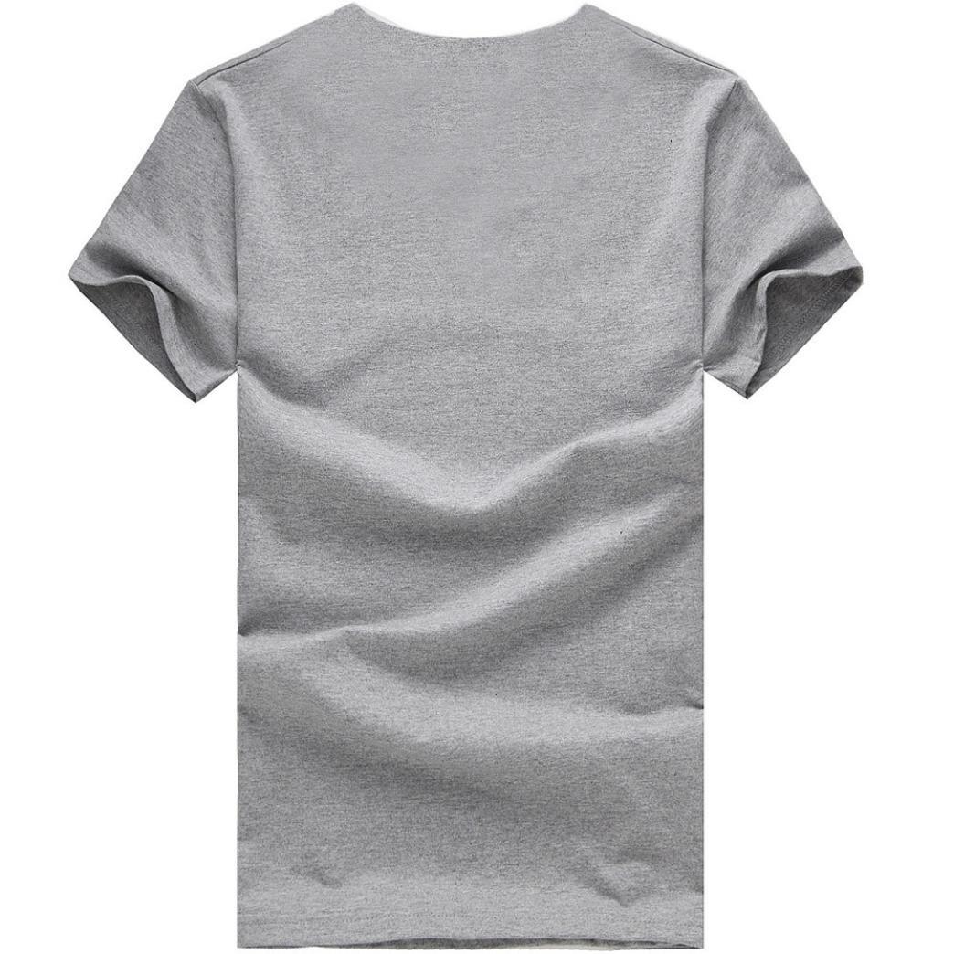 d30d07d8a6ac Uomo Homebaby® Camicia Uomo Elegante Maglietta Manica Corta Casual Stampa T-Shirt  Uomo Sportivi Vintage ...