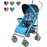 Lionelo Elia Buggy klein zusammenklappbar Kinderwagen, ab 6 Monaten bis 15 kg belastbar, Moskitonetz, Fußdecke, Regenschutz