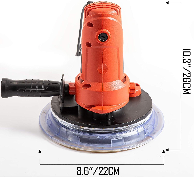 VEVOR Lijadora de Pared 710 W, Pulidora de Obra Seca 710 W, Lijadora Eléctrica para Paredes y Techos, Lijadora Jirafa, Ideal para Lijar Techos y Paredes, con Tira de Luz LED y