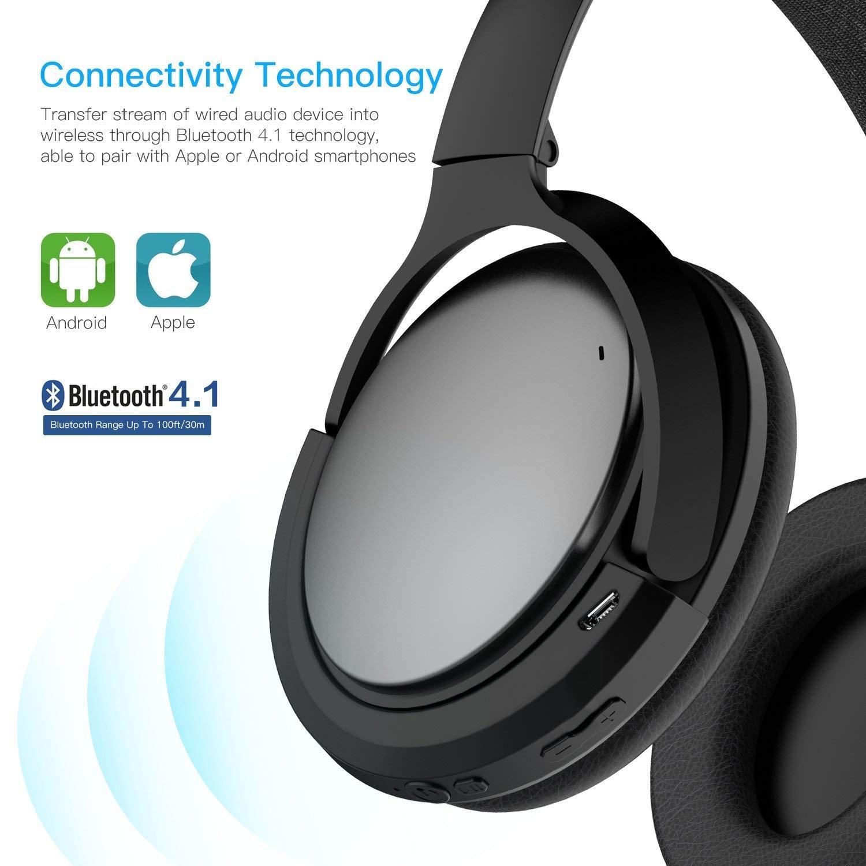 Adaptador inalámbrico Bluetooth Bose QuietComfort 15 Auriculares, MASCARRY Negro Bluetooth 4.1 Receptor Bose QC 15 Auriculares acústicos con cancelación de ...
