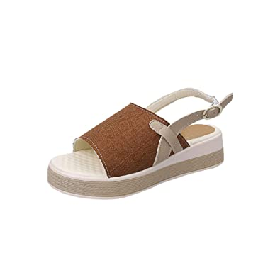 Sandals Women Flats Women Vintage Roman Flat Sandals Buckle Platform Open Toe Platform Shoes Zapatillas Mujer