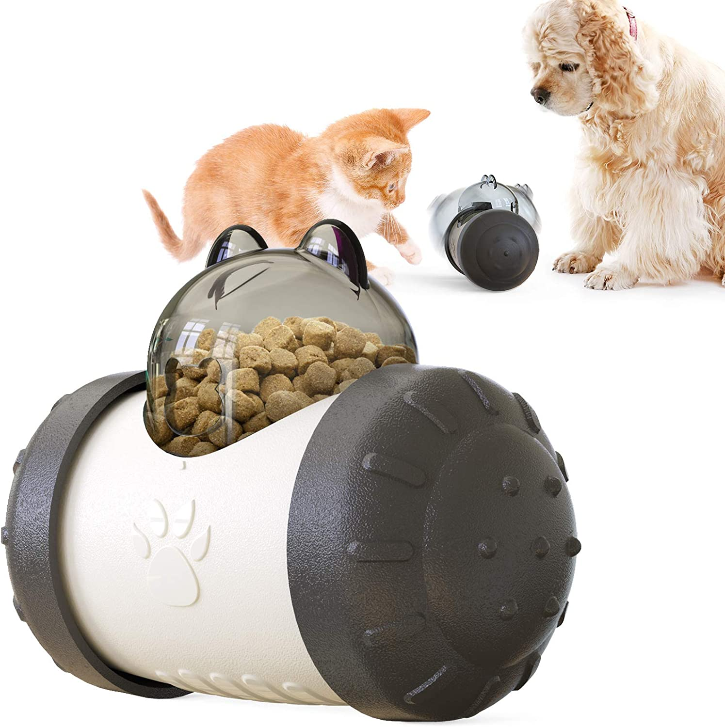 Tumbler Pets Toys Dog Cat Leaking Food Ball Educational Interactive Toys Swing Bear Slow Food Ball Dog Playing Eating Toys