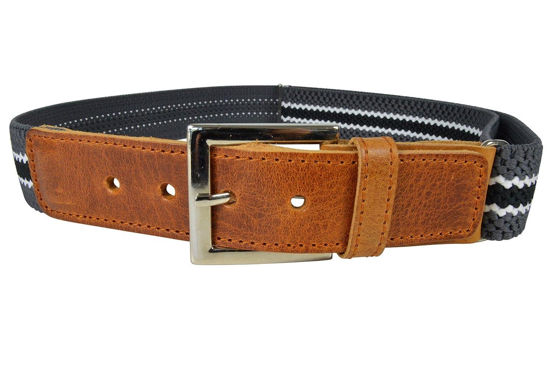 Olata Cintura Elasticizzata per Bambini/Ragazzi 5-15 Anni, Fibbia Classica Modello Marrone KIDSBELTL2oran
