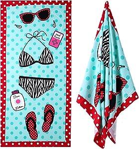 XULE Microfiber Beach Towel - for Girls Women Adults Large Beach Blanket Towel Portable Ultra Soft Super Water Absorbent Beach Pool Towel 30x 60 inch