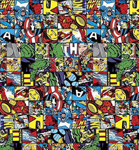 "Free Comic Book Day Dubai: Marvel Comics Avengers Paper Gift Wrap 27"" X 9"