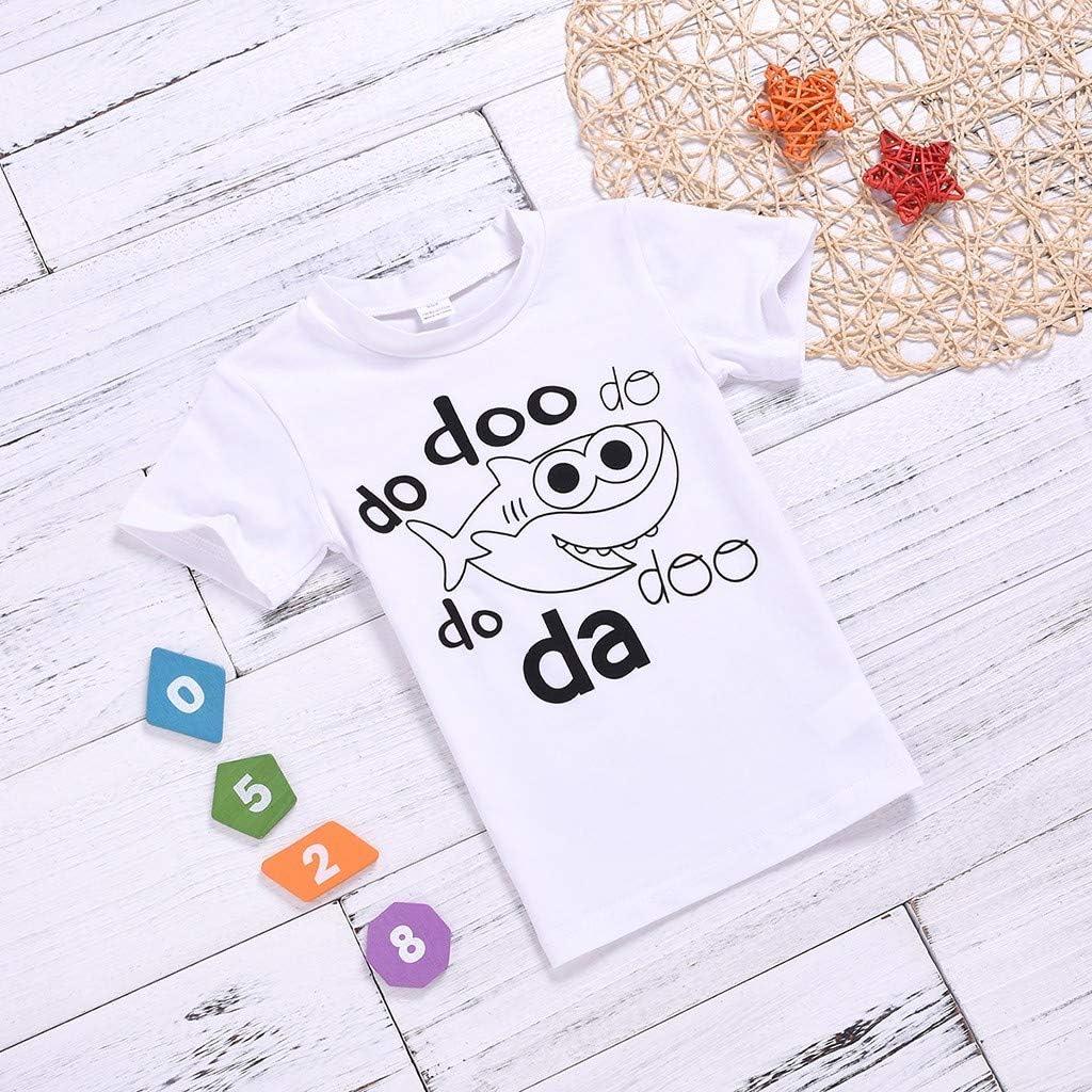 Topgrowth Magliette Bambino Divertenti T Shirt Neonata Maglietta Bambino Manica Lunga Ragazzo Camicie Stampa di Squalo Bluse Bambina Maglia T-Shirt Tee Tops