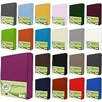 leevitex Jersey Spannbettlaken, Spannbetttuch 100% Baumwolle in vielen Größen und Farben MARKENQUALITÄT ÖKOTEX Standard 100