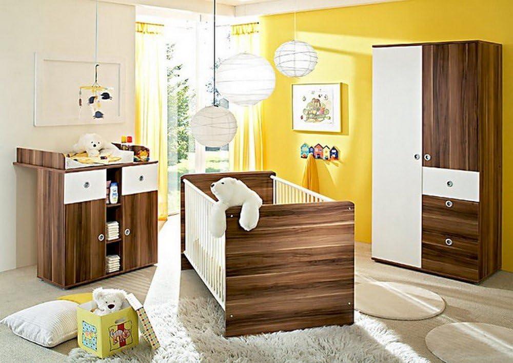 Baby Habitaciones Juego Completo Wiki 1 en Nogal/Blanco ...