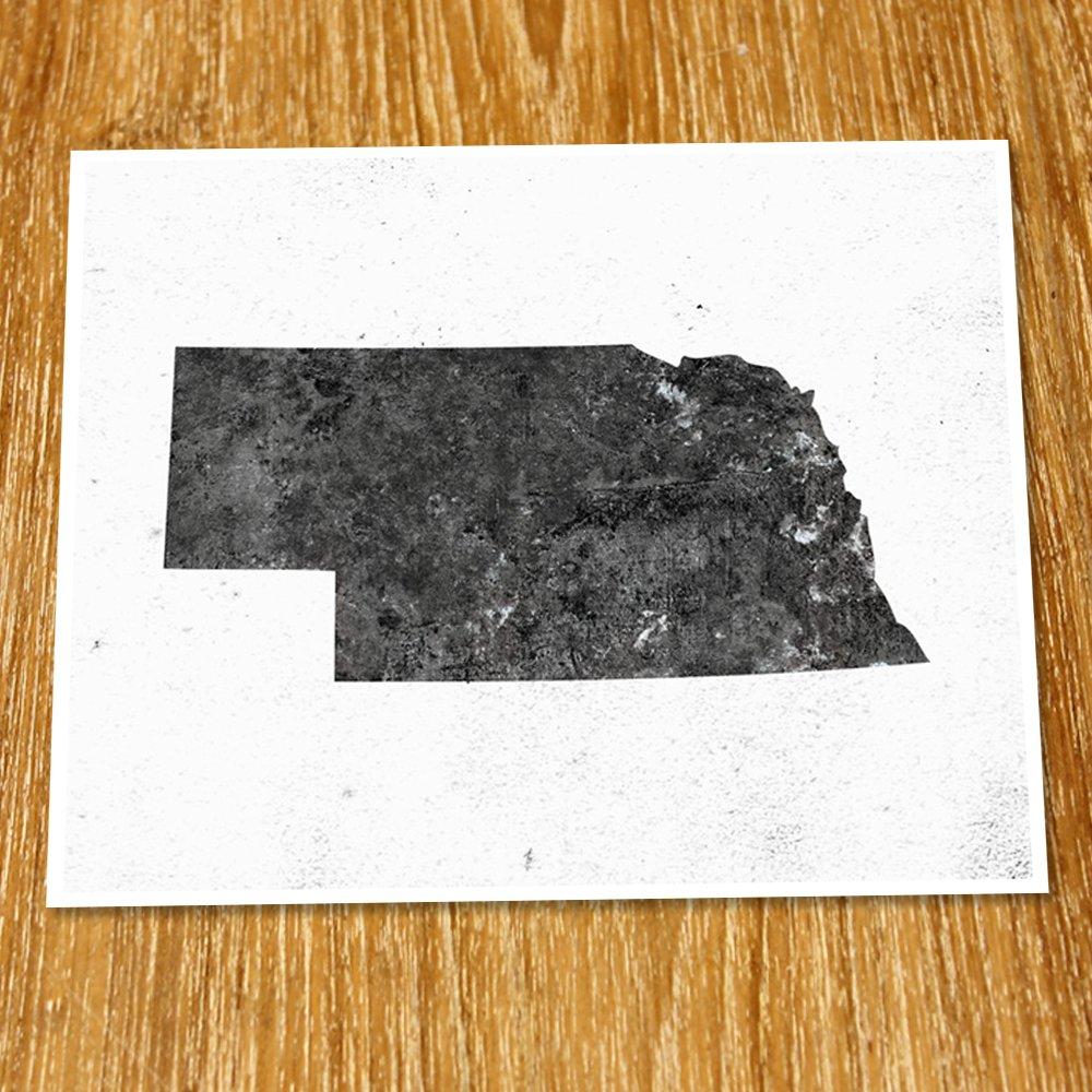 Nebraska Watercolor Map Wall Art Home Decor Poster Artwork Gift Print UNFRAMED