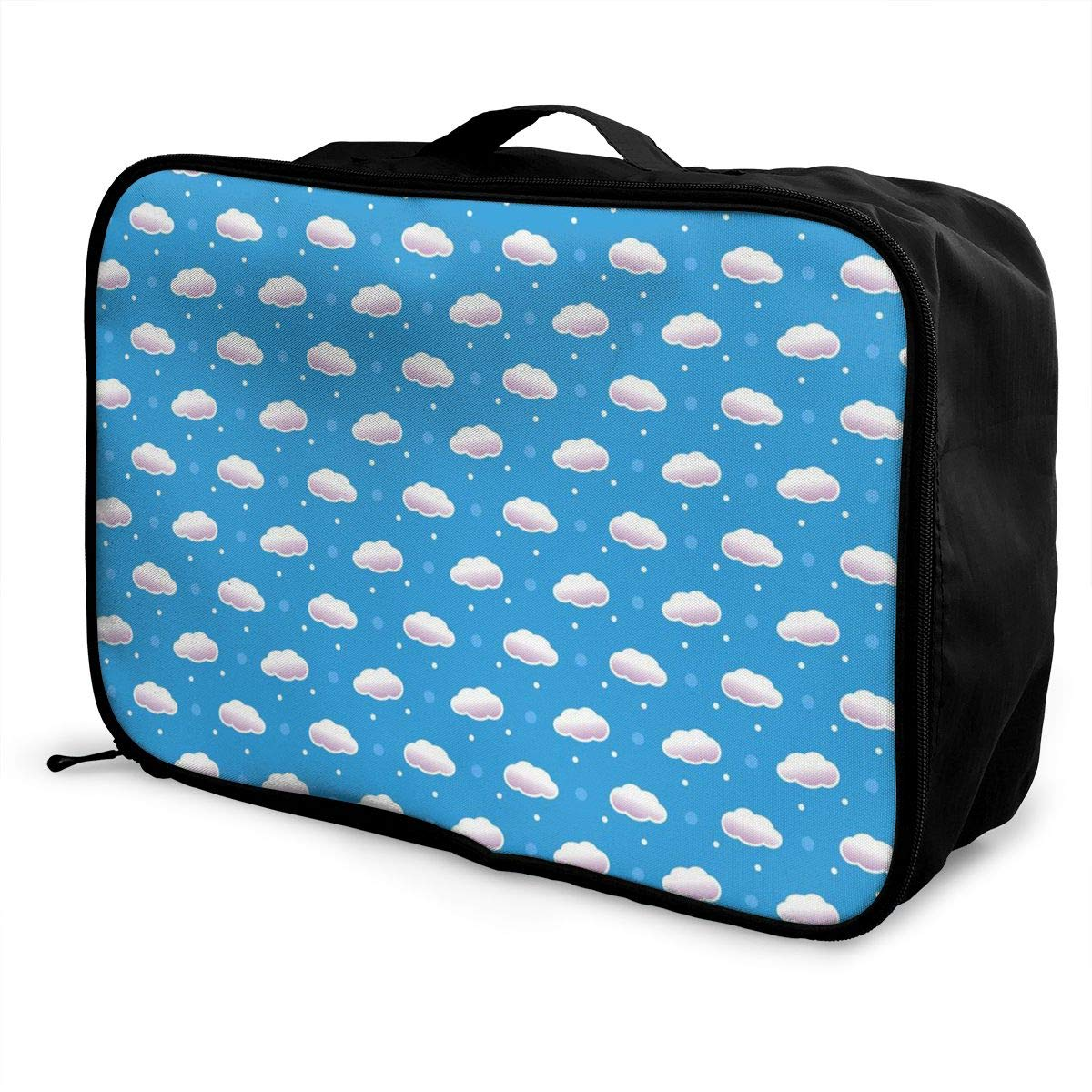 Travel Duffle Bag In Trolley Handle Lightweight Weekend Bags Nylon Luggage Duffel Bag Holiday Overnight Carry On Bag Tote Bag Cartoon Cute Dolphin Sports Gym