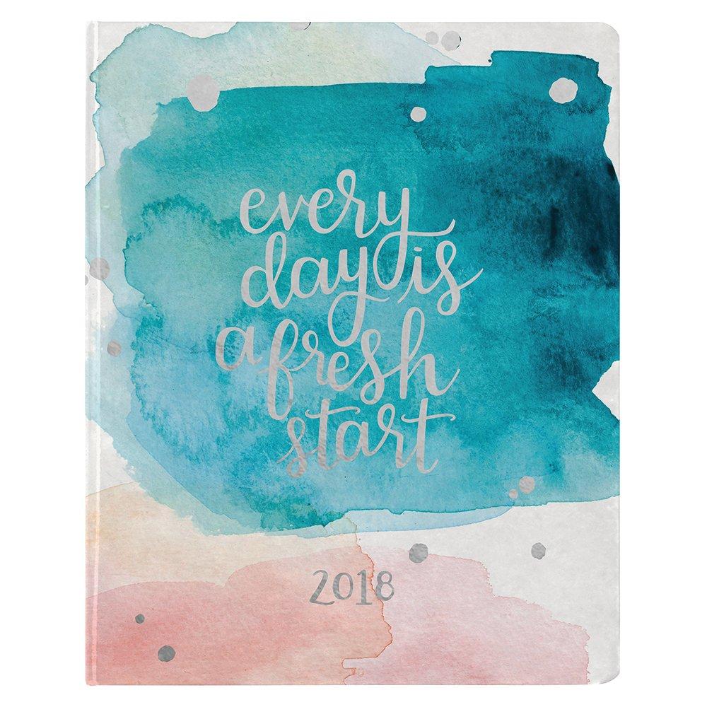Erin Condren 2018 Hardbound LifePlanner-Watercolor Splash Quote, 8x10