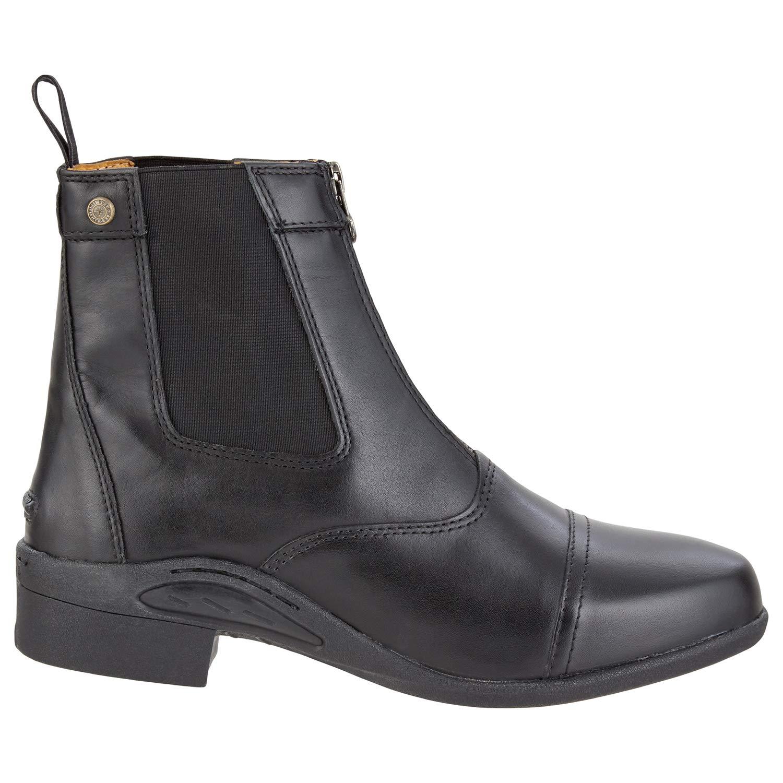 Saller Ultima FZ Botines con cremallera delantera. Cómodo Botas de piel auténtica, suela robusta con ortholite Zapatos de equitación, piel, interior Toller ...