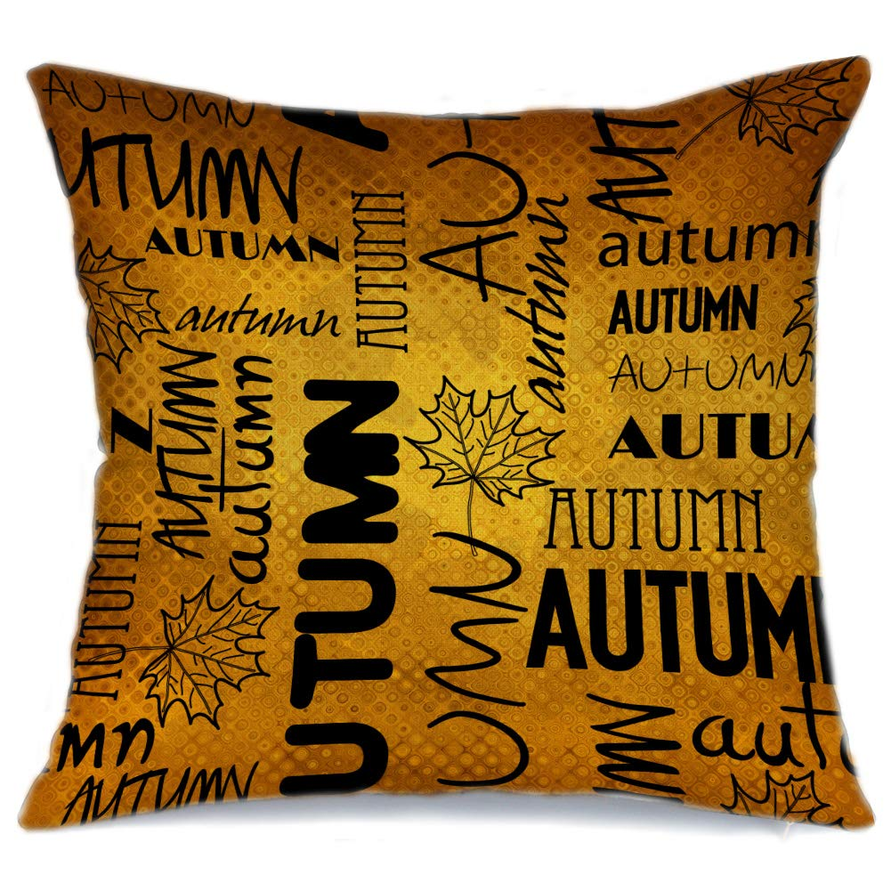 AENEY Fall Leaves Throw Pillow Cover 18 x 18 for Couch Vintage Fall Decorations Farmhouse Home Decor Autumn Thanksgiving Decorative Pillowcase Faux Linen Square Cushion Case for Sofa