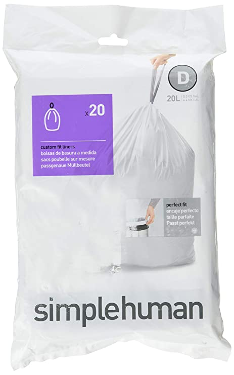 Amazon.com: simplehuman CW0163 Code D 20L, White: Home & Kitchen