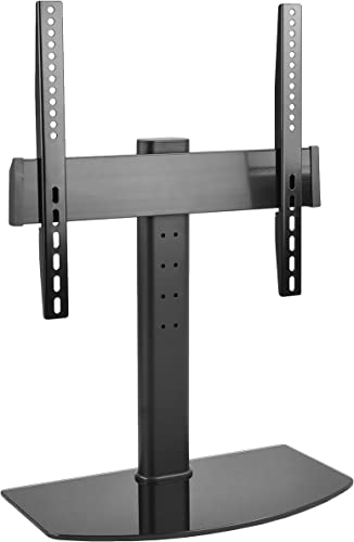 VIVO Universal 32 to 47 LCD LED Flat Screen TV Table Top Desk Stand with Glass Base STAND-TV00K