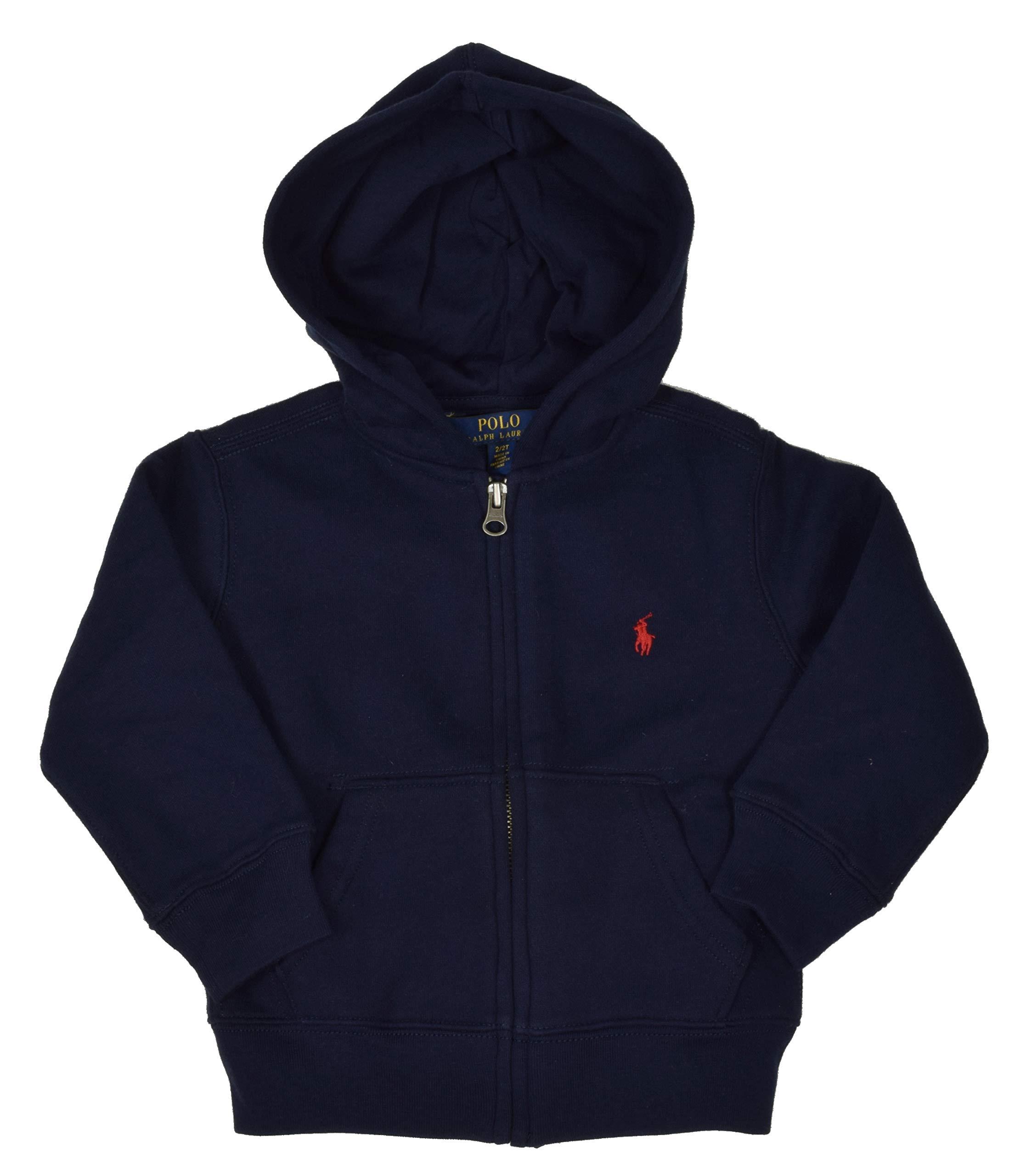 Polo Ralph Lauren Boy's Full Zip Fleece Hoodie - 4T - Navy