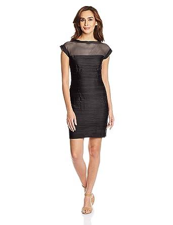 Mysterious Miss Women's Cotton Body Con Dress Women's Dresses at amazon