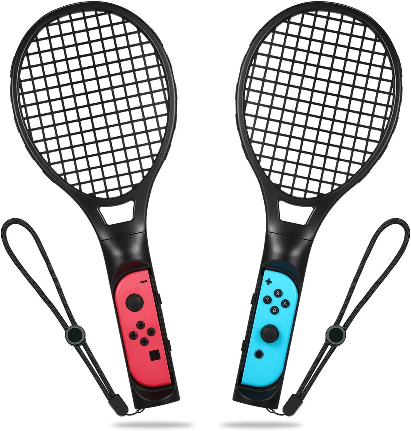Raqueta de tenis para Nintendo Switch, Raqueta de tenis Yocktec Joy-Con Kit de accesorios para juegos de Nintendo Switch Mario Tennis Aces-Negro (Paquete de 2): Amazon.es: Videojuegos