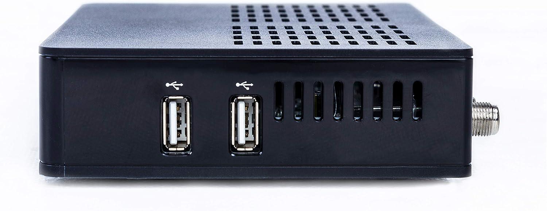 APEBOX S2 - Receptor satélite Multistream H.265 FULL HD (1080p, 1x DVB-S2, 2x USB 2.0, HDMI, LAN, Lector de tarjetas CA, LED Display, IR, SPDIF ...