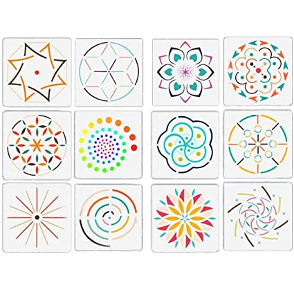 amazon com kalolary 12 pack mandala dotting stencils template