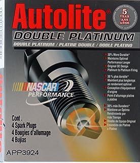 4 Autolite DOUBLE PLATINUM Spark Plugs #APP3924