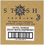 Stash Tea Decaf Raspberry & White Tea 100 Count Tea Bags in Foil (packaging may vary) Individual Decaffeinated White Tea Bags for Use in Teapots Mugs or Cups, Brew Hot Tea or Iced Tea