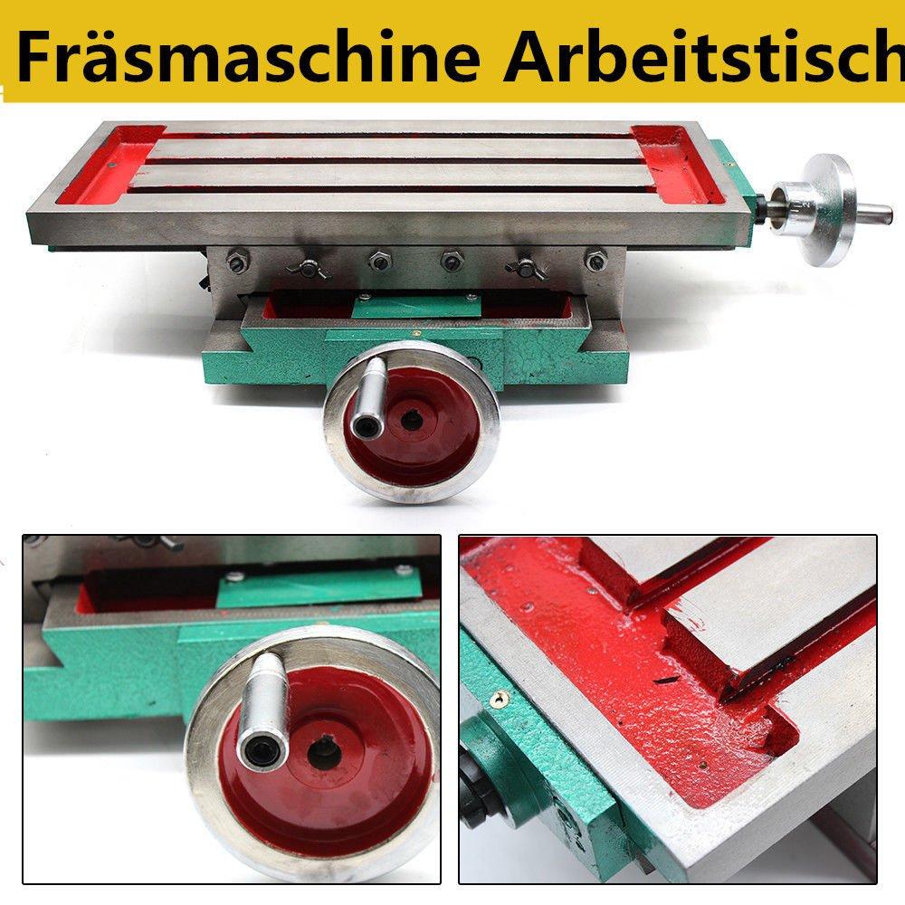 PRIT Mesa de trabajo para taladro fresadora soporte, Precisión tabla cruzada con abrazaderas Eje de XY Mesa de ajuste Taladro de tornillos de banco ...