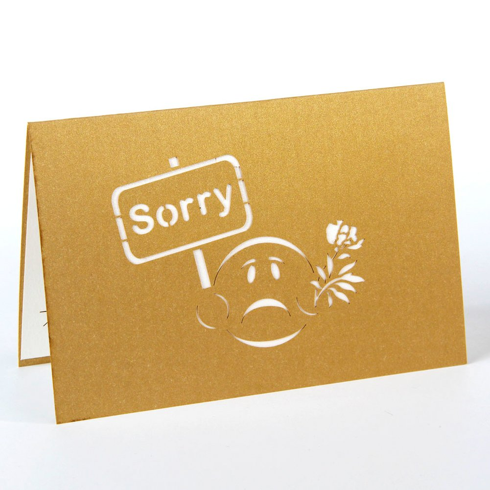 Amazon paper spiritz pop up apology card 3d sorry card for her amazon paper spiritz pop up apology card 3d sorry card for her him best wishes greeting card office products kristyandbryce Gallery