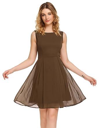 ACEVOG Sommer Feminines Kleid aus zartem Chiffon Brautjungfernkleid ...
