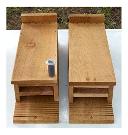 Twin Pack 1 Chamber Handcrafted Cedar Bat House ~ Pest /& Mosquito Control