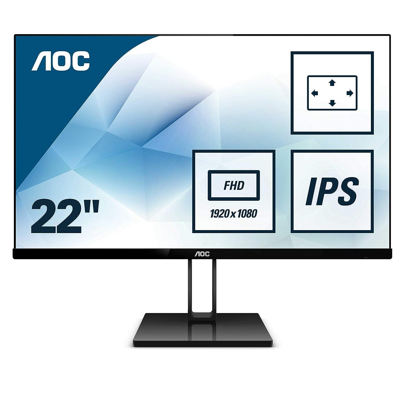 "AOC 27V2Q – Monitor de 27"" Full HD (IPS, sin Marco, superdelgada, FreeSync, 75 Hz, con Soporte de Metal pivotable) AOC 27V2Q - Monitor de 27 Full HD (IPS AOC International"