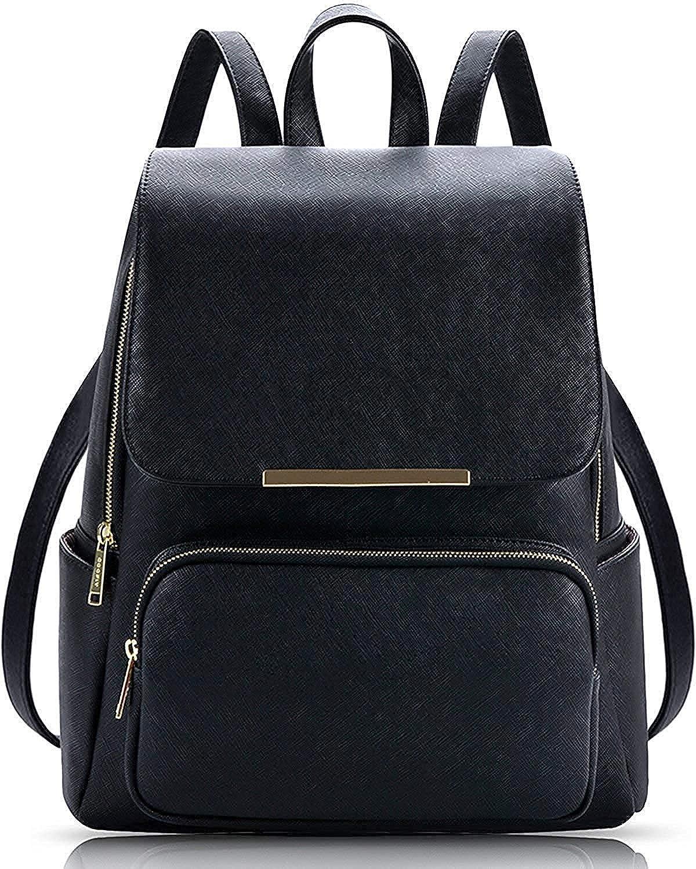 Deep Black Casual Backpack for Stylish Girls Shoulder College/School Bag