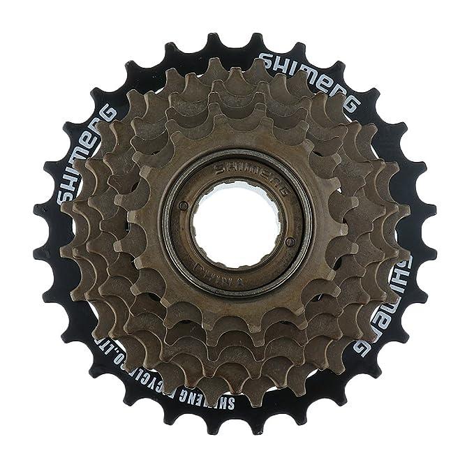 F Fityle Casetes De Rueda Libre De Bicicleta De Montaña MTB De Metal De 7 Velocidades 14-28T: Amazon.es: Deportes y aire libre