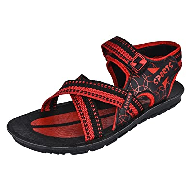 8b281a191ef0 Shoefly Men Red -947 Casual Sandals   Floaters  Buy Online at Low Prices in  India - Amazon.in