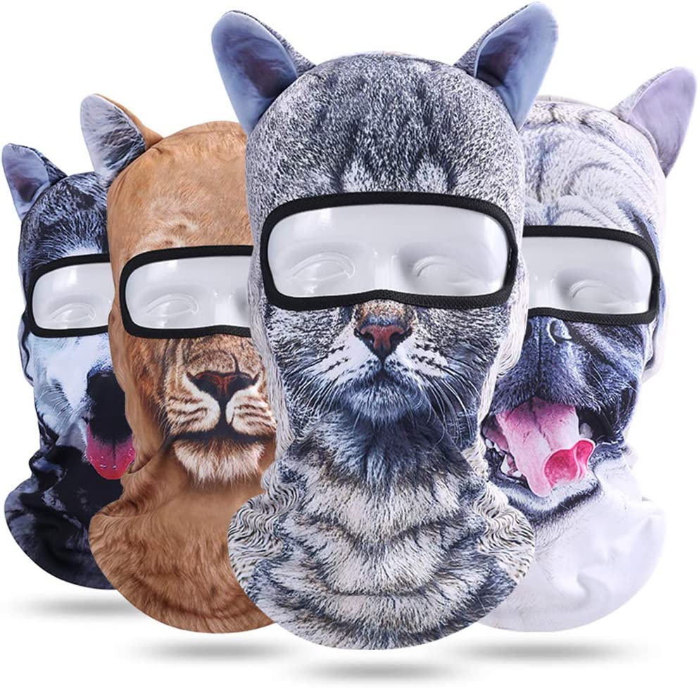 ShiningLove 3D Animal Fashion Balaclava Cap Outdoor Sunscreen Cycling Cap Ski Mask Full Head Windproof Beanie